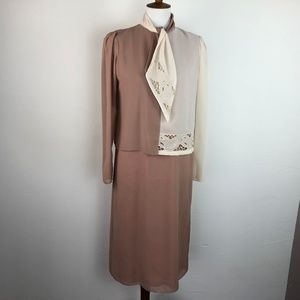 Vintage Ursula of Switzerland Size 7/8 Dress Tan